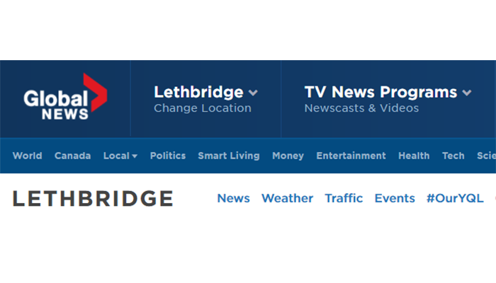 Lethbridge Global TV Advertising on the Internet Website