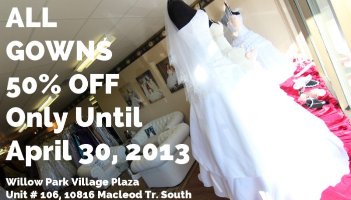 Calgary Bridal Shops Sale