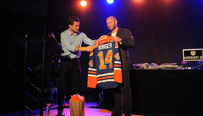 Bill Borger at the Edmonton Oilers Foundation Event